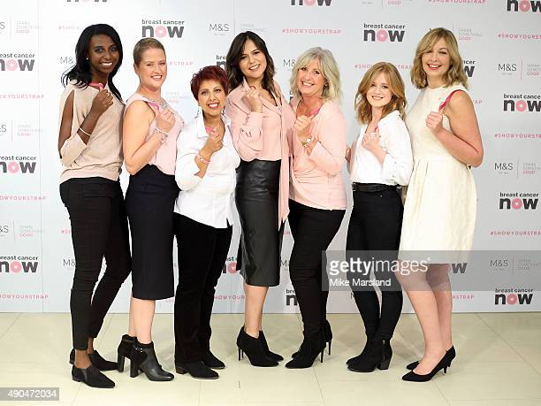 Donna Fraser Helen Bliss Sharon Jhheent Hannah Gardner Leonie Saysell Rachel Cholerton and Jo Stermeyer attend a photocall to launch a new lingerie...
