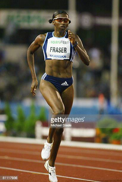 Donna Fraser of Great Britain in action during the Women's 400 metres race at the IAAF Golden Spike meet in Ostrava Czech Republic