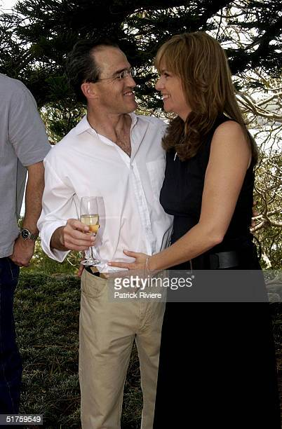 Donna Gardner and Johnny Kahlbetzer at the launch of Leathers by Donna Gardner at Windemere in Sydney where she lives with current partner Johnny...