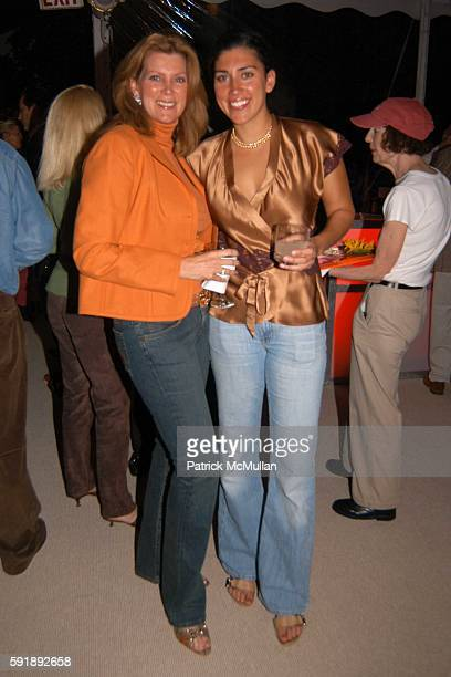 Donna Gardner and Kelli Gardner attend 10th Annual Belle Haven Challenge and Lobsterfest at the de Visscher Home on October 1 2005 in Greenwich...