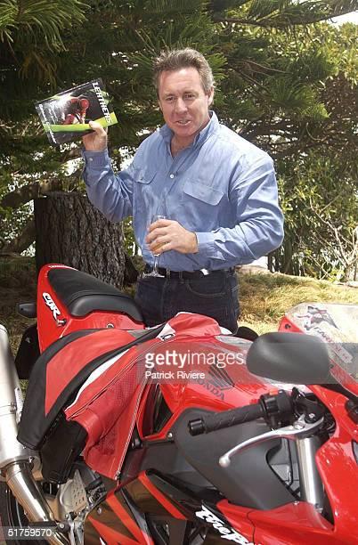 Donna Gardner's former husband Australian 500cc motobike World Champion Wayne Gardner at the launch of Leathers by Donna Gardner at Windemere in...