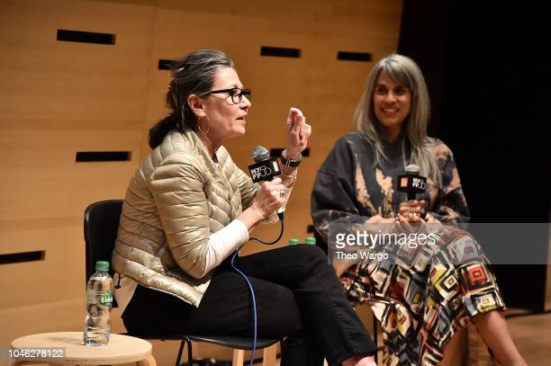 Donna Gigliotti and Mimi ValdŽs attend the 56th New York Film Festival NYFF Live PGA Talk at Elinor Bunin Munroe Film Center on October 5 2018 in New...