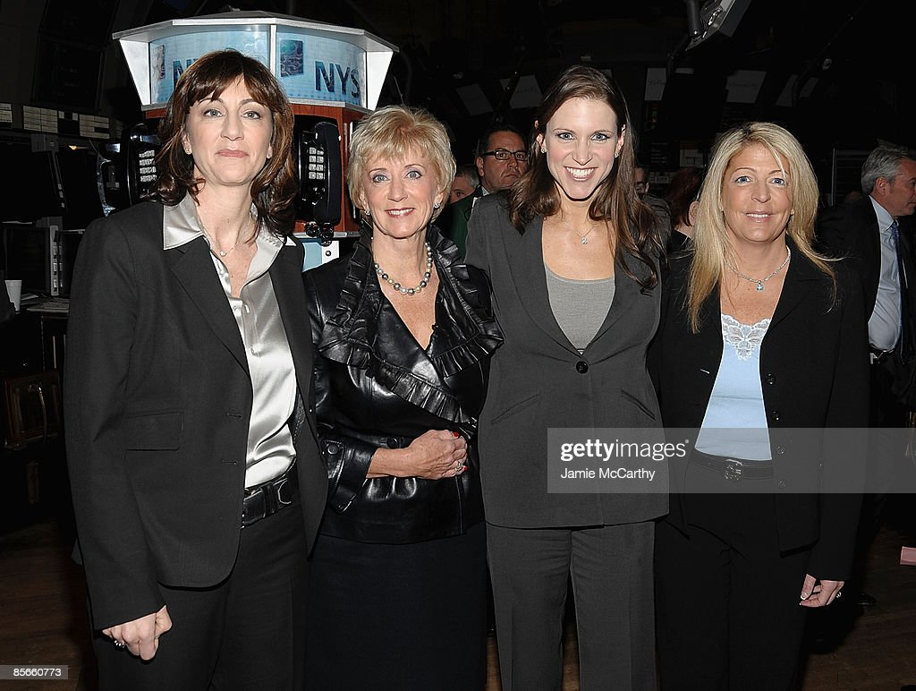 Linda McMahon Donna Goldsmith and Stephanie McMahon Levesque From