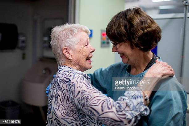 TORONTO ON AUGUST 5 Donna greets nurse Christine McCann who will be supervising her last chemo treatment ready Donna McCullagh came up with the idea...
