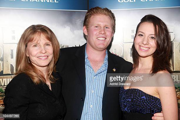 Donna Hanover Andrew Giuliani and olympic figure skater Sarah Hughes attend the Golf Channel's Big Break Dominican Republic screening at Le Cirque on...