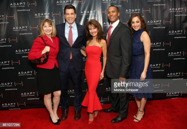 Donna Hanover Steve Lacy Susan Lucci Mike Woods and Teresa Priolo attend the UCP of NYC 70th Anniversary Celebration Gala at New York Hilton Midtown...