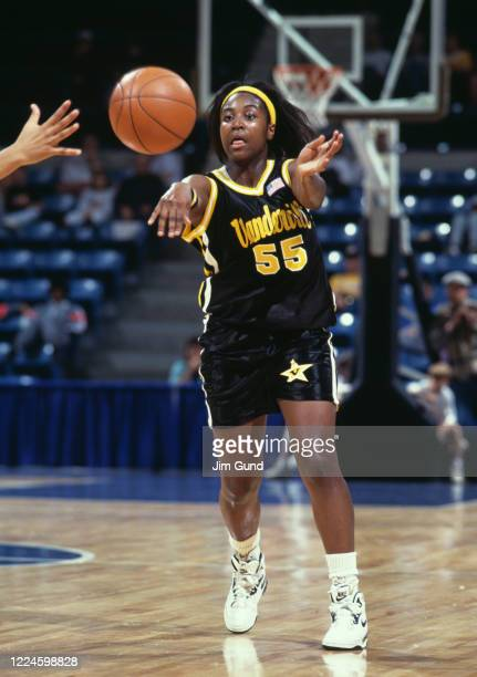 Donna Harris Guard for the Vanderbilt University Commodores during the NCAA Division I Women's Southeastern Conference Tournament game against the...
