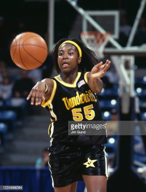 Donna Harris, Guard for the Vanderbilt University Commodores during the NCAA Division I Women's Southeastern Conference Second Round game against the...