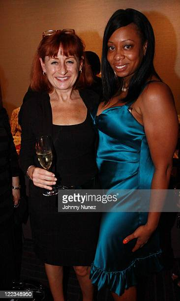 Donna Haynes and Africa McClain attend the YW Summer Soiree at Trump SoHo on June 24 2010 in New York City