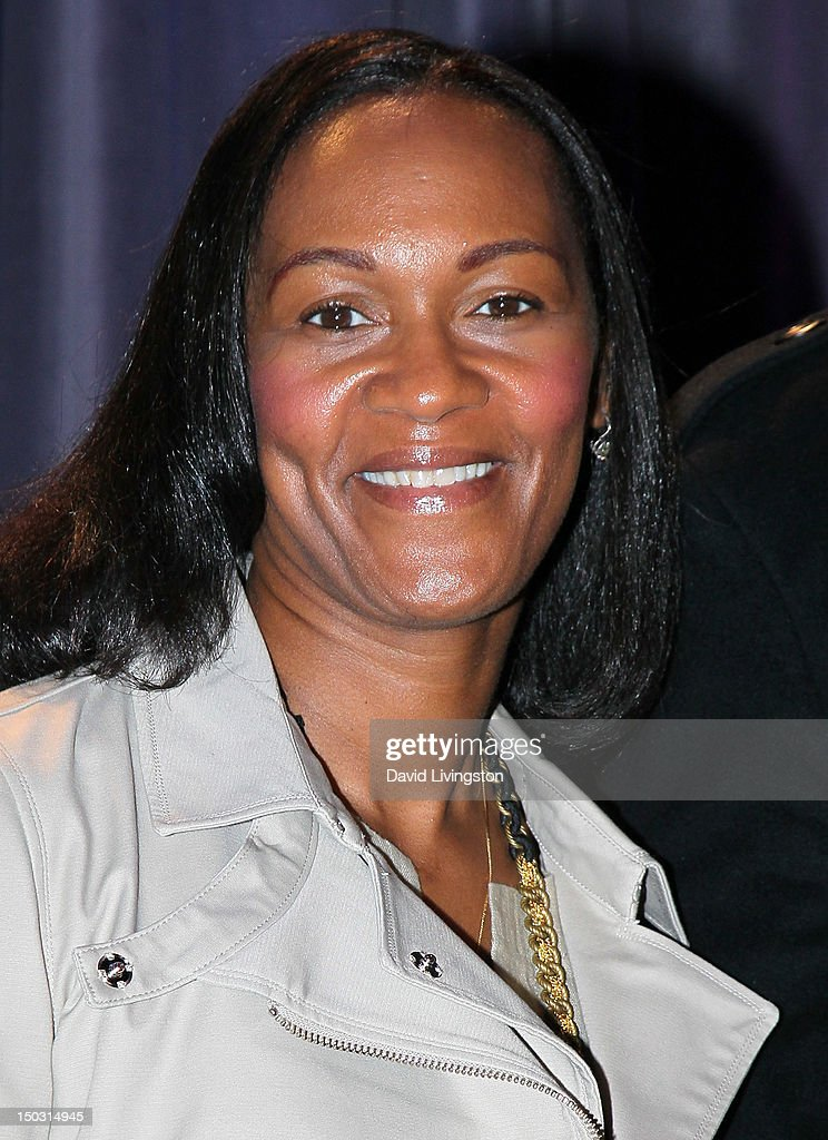 Donna Houston attends the GRAMMY Museum press event for 'Whitney! Celebrating the Musical Legacy of Whitney Houston' at The GRAMMY Museum on August 15, 2012 in Los Angeles, California.