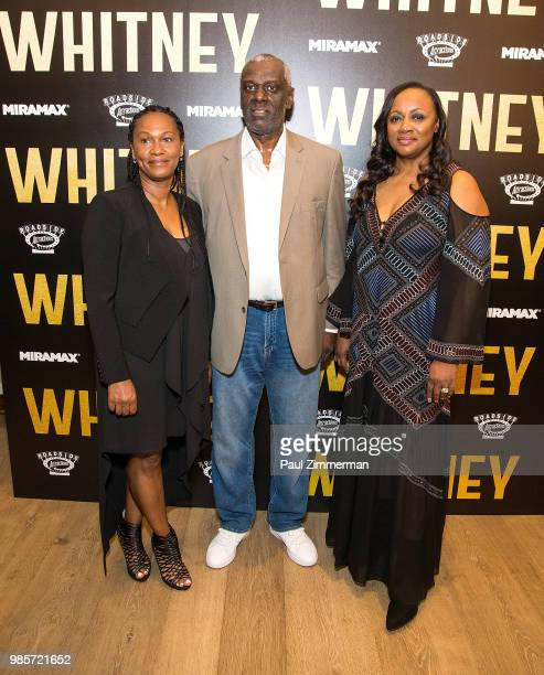 Donna Houston Gary Houston and Pat Houston attend Whitney New York Screening at the Whitby Hotel on June 27 2018 in New York City