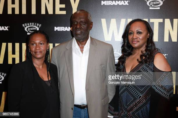 Donna Houston Gary Houston and Pat Houston during the Whitney New York Screening Arrivals at the Whitby Hotel on June 27 2018 in New York City
