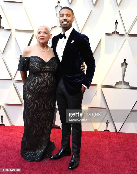 Donna Jordan and Michael B Jordan arrives at the 91st Annual Academy Awards at Hollywood and Highland on February 24 2019 in Hollywood California