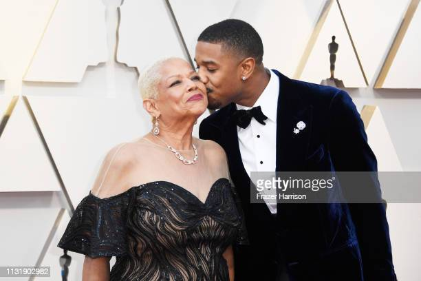 Donna Jordan and Michael B Jordan attend the 91st Annual Academy Awards at Hollywood and Highland on February 24 2019 in Hollywood California