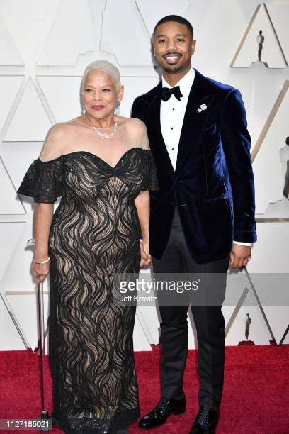 Donna Jordan and Michael B Jordan attends the 91st Annual Academy Awards at Hollywood and Highland on February 24 2019 in Hollywood California