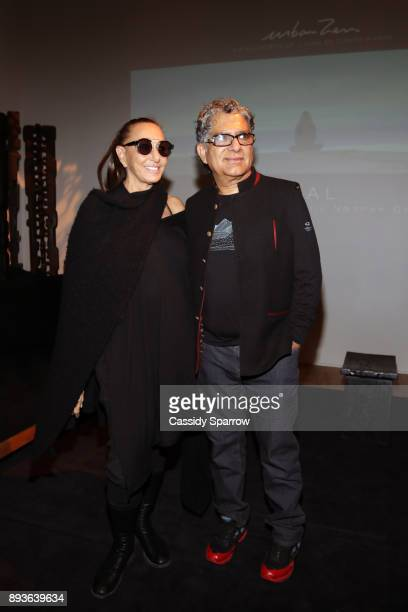 Donna Karan and Deepak Chopra attend Premiere Screening Of Heal Documentary As Part Of Urban Zen Holiday Experience Featuring Panel With Donna Karan...