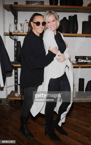 Donna Karan and Dr Jennifer Ashton attend Premiere Screening Of Heal Documentary As Part Of Urban Zen Holiday Experience Featuring Panel With Donna...