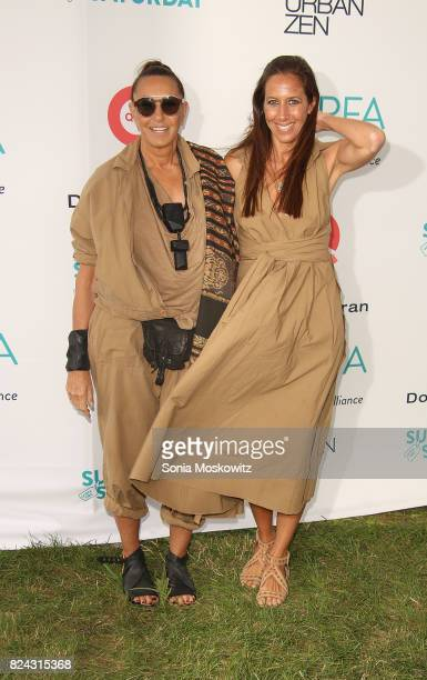 Donna Karan and Gabby DeFelice attend the 20th Annual Super Saturday to benefit the Ovarian Cancer Research Fund Alliance at Nova's Ark Project on...