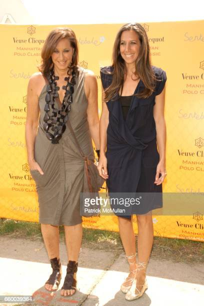 Donna Karan and Gabby Karan De Felice attend VEUVE CLICQUOT Manhattan Polo Classic Featuring PRINCE HARRY and NACHO FIGUERAS Benefiting American...