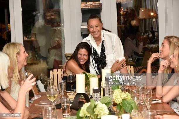Guests attend the Hamptons Magazine And Urban Zen x Tutto il Giorno Hosting of A VIP Dinner at Urban Zen x Tutto il Giorno on August 15 2018 in Sag...