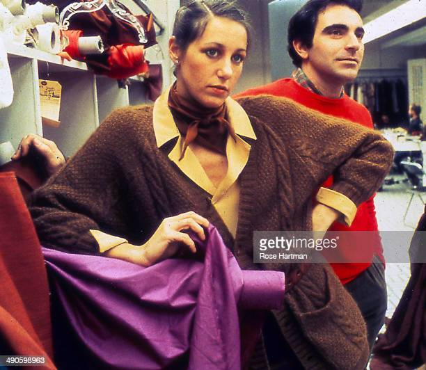 Donna Karan and Louis del'Olio at her 7th Avenue atelier New York New York 1979