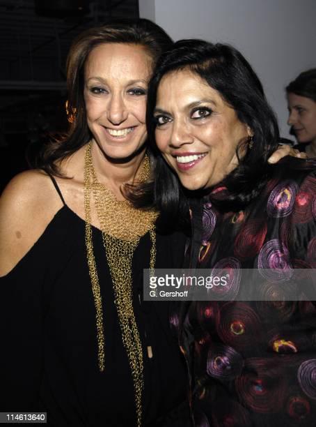 Donna Karan and Mira Nair director during The Namesake New York City Premiere After Party at 711 Greenwich Street in New York City New York United...