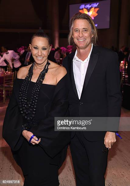 Donna Karan and Russell James attend the 2016 Angel Ball hosted by Gabrielle's Angel Foundation For Cancer Research on November 21 2016 in New York...