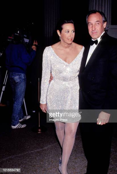 Donna Karan and Stephen Weiss at the Council of Fashion Designers of America circa 1991 in New York