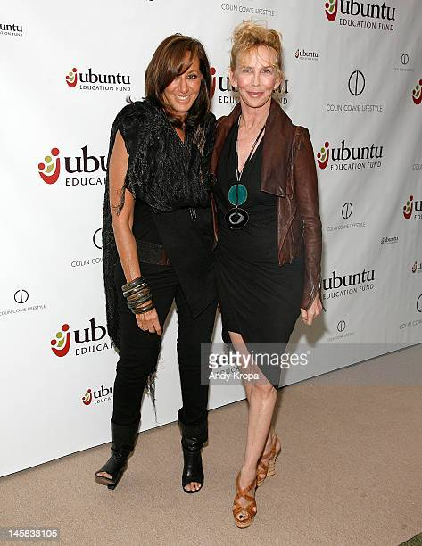 Donna Karan and Trudie Styler attend the Ubuntu Education Fund NYC Gala at Roseland Ballroom on June 6 2012 in New York City