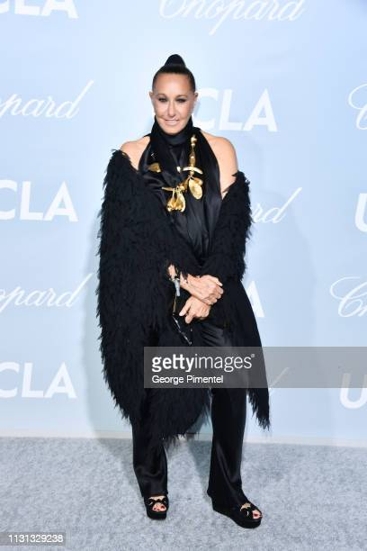 Donna Karan arrives at the 2019 Hollywood For Science Gala at Private Residence on February 21 2019 in Los Angeles California