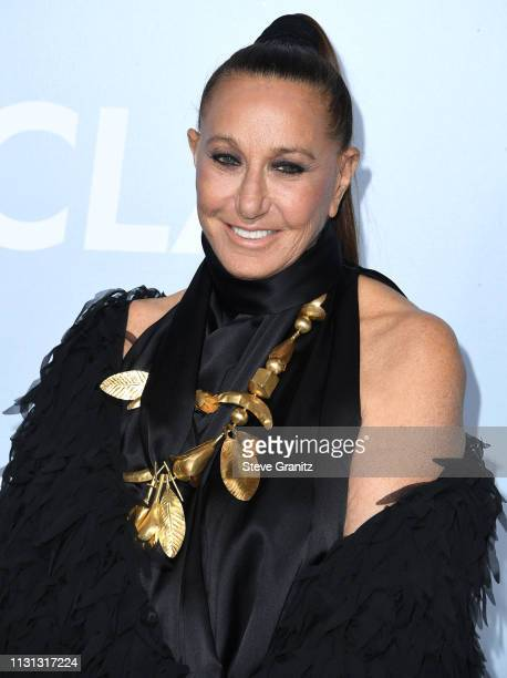 Donna Karan arrives at the Hollywood For Science Gala at Private Residence on February 21, 2019 in Los Angeles, California.
