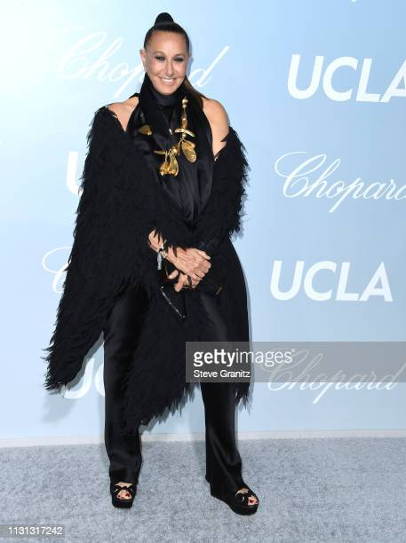 Donna Karan arrives at the Hollywood For Science Gala at Private Residence on February 21 2019 in Los Angeles California