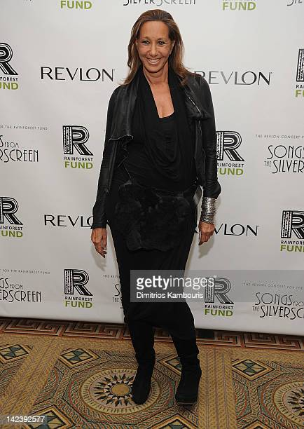 Donna Karan arrives to the auction following the Revlon concert for The Rainforest Fund at The Pierre Hotel on April 3 2012 in New York City