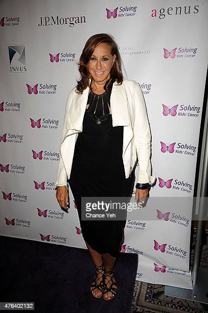 Donna Karan attends 6th Annual Solving Kids Cancer Spring Celebration at 583 Park Avenue on June 8 2015 in New York City