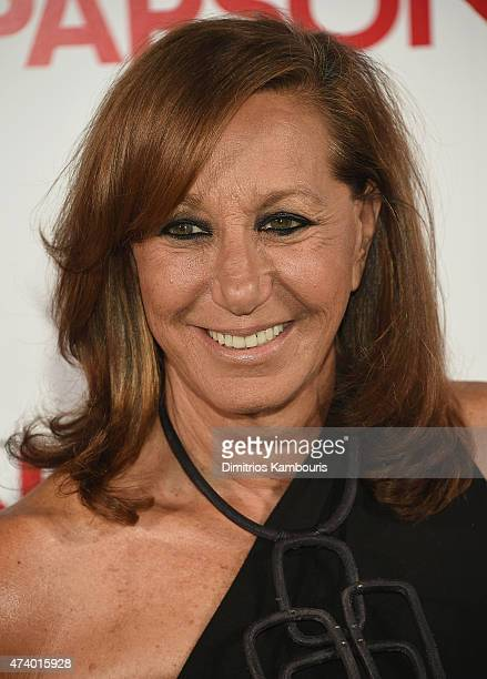Donna Karan attends the 67th Annual Parsons Fashion Benefit at River Pavillion at the Jacob Javitz Center on May 19 2015 in New York City
