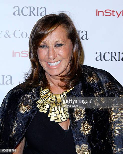 Donna Karan attends the ACRIA's 20th Anniversary Holiday Dinner at The Cunard Building on December 10 2015 in New York City