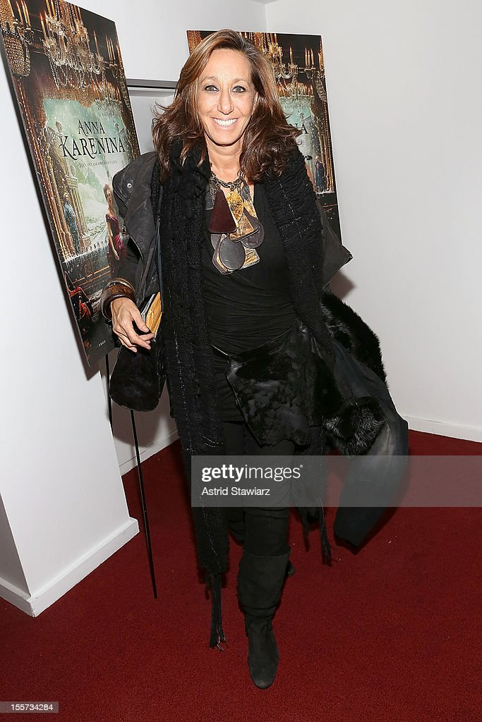 Donna Karan attends the 'Anna Karenina' New York Special Screening at Florence Gould Hall on November 7, 2012 in New York City.