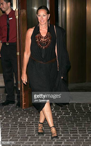 Donna Karan attends The Cinema Society and Glamour screening of Elegy at the Tribeca Grand Screening Room on August 5 2008 in New York City