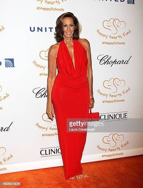 Donna Karan attends the Happy Hearts Fund 10 year anniversary tribute of the Indian Ocean tsunami tribute at Cipriani 42nd Street on June 19 2014 in...