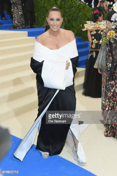 Donna Karan attends the 'Rei Kawakubo/Comme des Garcons Art Of The InBetween' Costume Institute Gala at Metropolitan Museum of Art on May 1 2017 in...