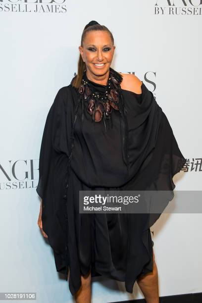 Donna Karan attends the Russell James 'Angels' book launch & exhibit at Stephan Weiss Studio on September 6, 2018 in New York City.