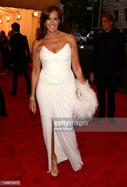 Donna Karan attends the Schiaparelli And Prada Impossible Conversations Costume Institute Gala at the Metropolitan Museum of Art on May 7 2012 in New...