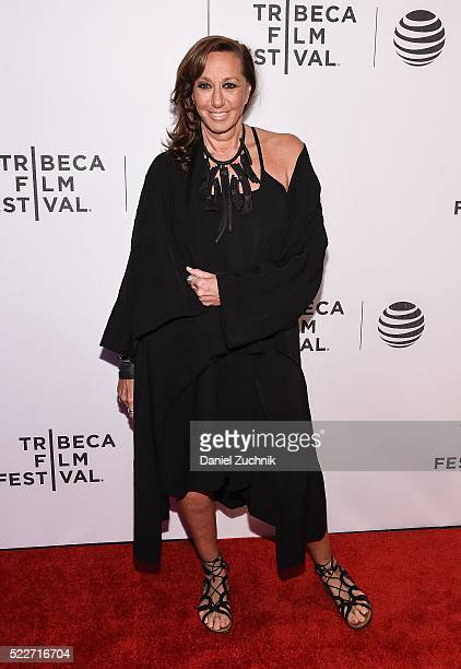 Donna Karan attends the Tribeca Talks Daring Women Summit during the 2016 Tribeca Film Festival at Spring Studios on April 20 2016 in New York City