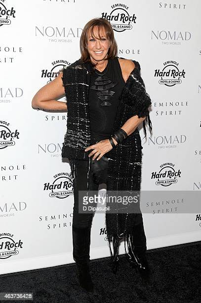 Donna Karan attends the'Seminole Spirit' Art Exhibition Party at Stephen Weiss Studio on February 17 2015 in New York City