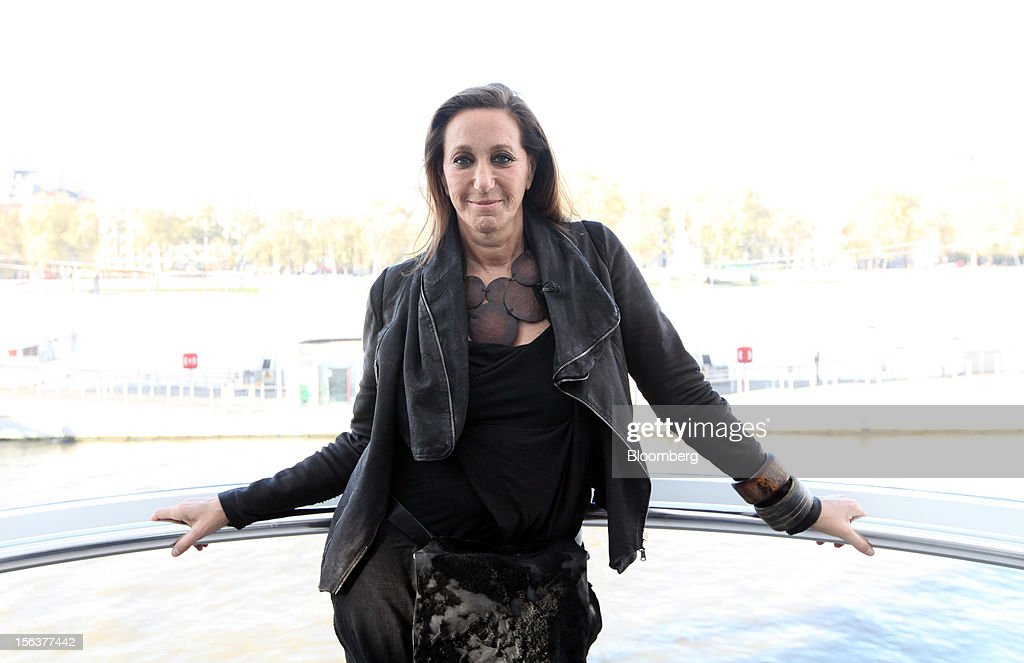 Donna Karan, chief designer of Donna Karan International Inc., poses for a photograph following a Bloomberg Television interview on the EDF Energy London Eye in London, U.K., on Wednesday, Nov. 14, 2012. Retail sales in the U.S. fell in October for the first time in four months, influenced by the effects of superstorm Sandy, which hurt receipts for some and helped for others. Photographer: Chris Ratcliffe/Bloomberg via Getty Images