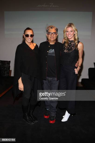 Donna Karan Deepak Chopra and Kelly Noonan Gores attend Premiere Screening Of Heal Documentary As Part Of Urban Zen Holiday Experience Featuring...
