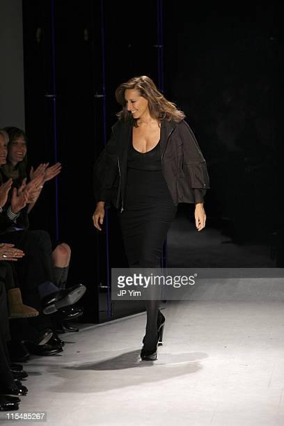 Donna Karan designer during MercedesBenz Fashion Week Fall 2007 Donna Karan Runway at 711 Greenwich Street in New York City New York United States
