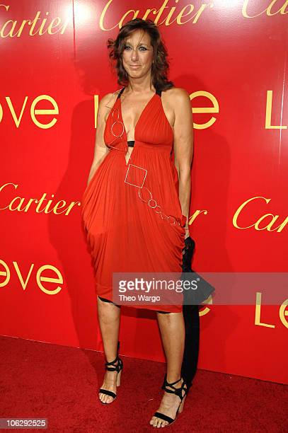 Donna Karan during The Cartier Charity Love Bracelet Party Red Carpet at Cartier in New York City New York United States