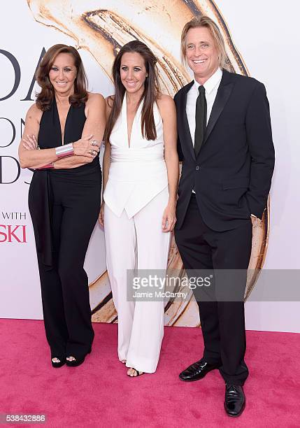 Donna Karan Gabby Felice Karan and Russell James attend the 2016 CFDA Fashion Awards at the Hammerstein Ballroom on June 6 2016 in New York City