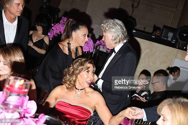 Donna Karan Heloise Pratt and Sir Bob Geldof attend the Angel Ball 2016 at Cipriani Wall St on November 21 2016 in New York City